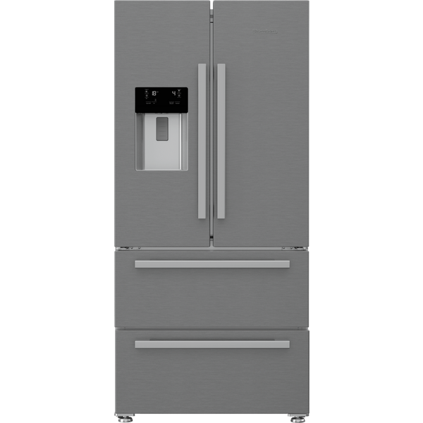 Blomberg KFD4953XD Frost Free American Style Fridge Freezer - Stainless Steel