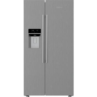 Blomberg KWD253PX Non Plumbed Water & Ice American Fridge Freezer - Brushed Steel