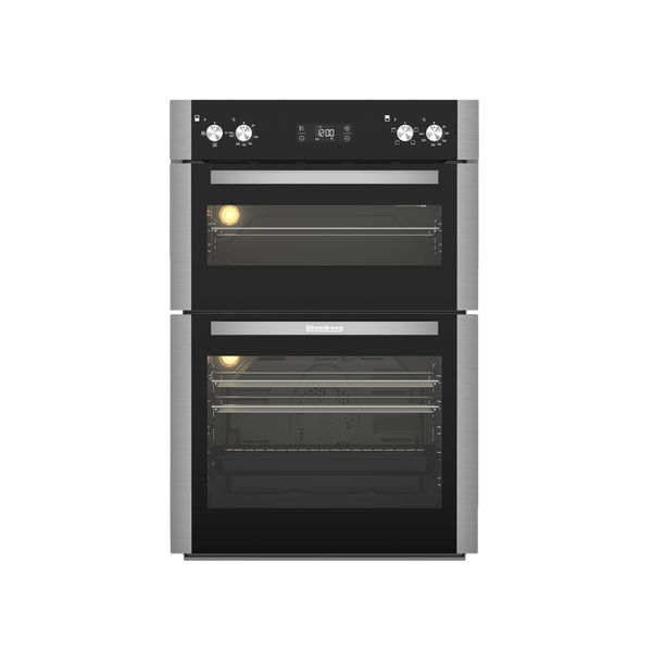 Blomberg ODN9302X 60cm Built In Electric Double Oven - Stainless Steel