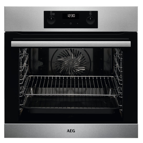 AEG BES255011M 59.5cm Built In Electric Single Oven - Stainless Steel