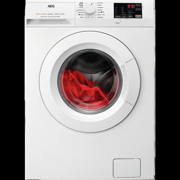 AEG L6WEJ841N 8kg/4kg 1600 Spin Freestanding Washer Dryer - White