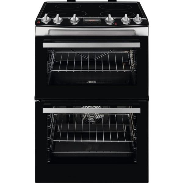 Zanussi ZCI66278XA 60cm Electric Double Oven with Induction Hob - Stainless Steel