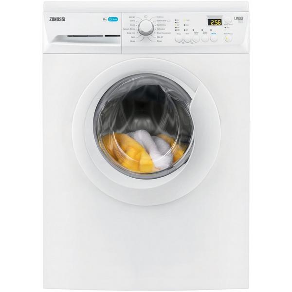 Zanussi ZWF81443W 8kg 1400 Spin Washing Machine with AquaFall System - White