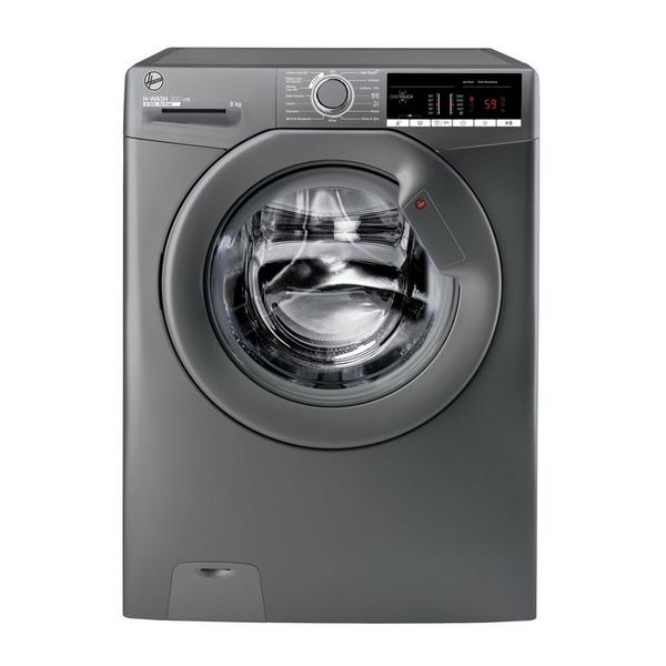 Hoover H3W58TGGE 8kg 1500 Spin Washing Machine with NFC Connection - Graphite
