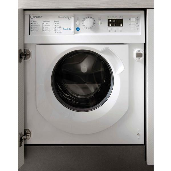Indesit BIWDIL75125UKN 7kg/5kg 1200 Spin Intergrated Washer Dryer - White