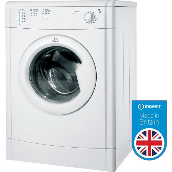 Indesit IDV75 Refresh Option Vented Tumble Dryer - White