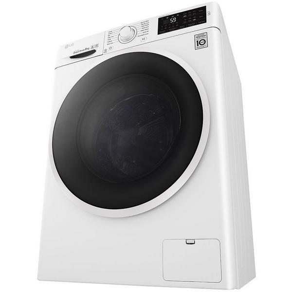 LG ELECTRONICS F4J608WN 8kg 1400 Inverter Direct Drive Washing Machine - BLUE WHITE - A+++ Energy Rated