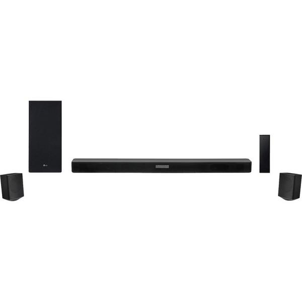 LG SK5RDGBRLLK 4.1 Soundbar 480w - DTSVirtual X Hi Res Audio - Bluetooth - Wireless - 200w Subwoofer