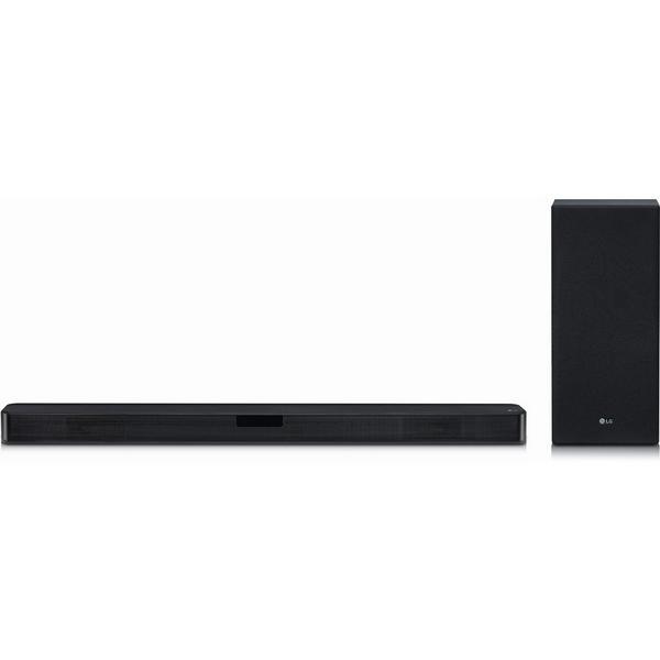 LG SL5YDGBRLLK Flat Soundbar + Subwoofer 2.1 Ch - 400W - DTS Virtual X- Black