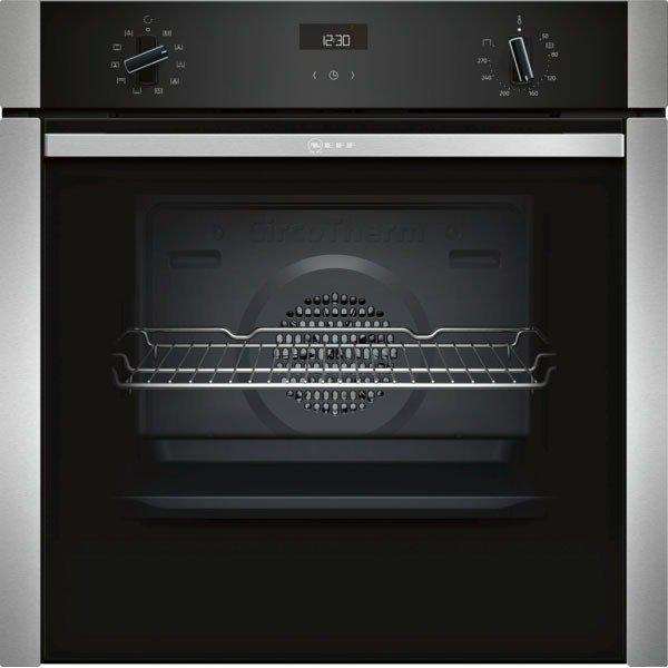 Neff B3ACE4HN0B Slide & Hide Built In Electric Single Oven - Stainless Steel
