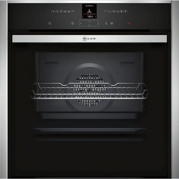 Neff B57CR23N0B Pyrolytic Slide & Hide Built In Electric Single Oven - Stainless Steel