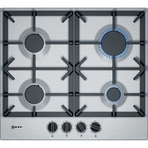 Neff T26DS49N0 58cm Gas Hob - Stainless Steel