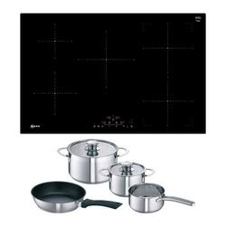 Neff T48FD23X0KIT 80cm Frameless Induction Hob - Black - Includes Free Pan Set
