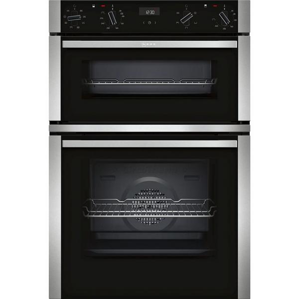 NEFF U1ACE2HN0B Electric CircoTherm® Double Oven - BLACK/STEEL - A Energy Rated