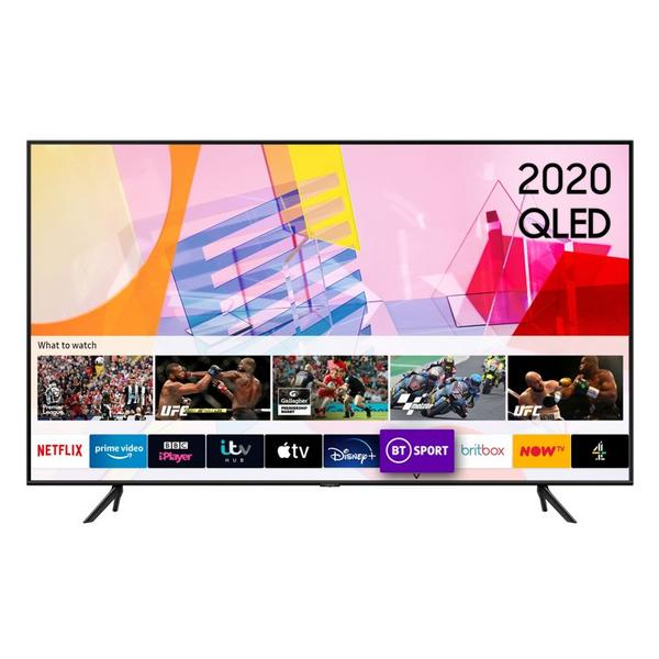 "Samsung QE43Q60TAUXXU 43"" HDR10 QLED Smart TV with Crystal Processor & Adaptive Sound"