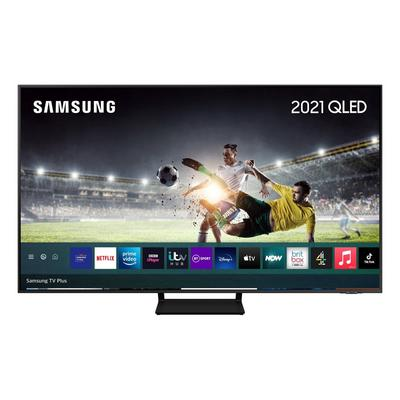 """Samsung QE55Q70AATXXU 55"""" 4K QLED Smart TV Quantum HDR powered by HDR10 + 4K picture with AI sound."""