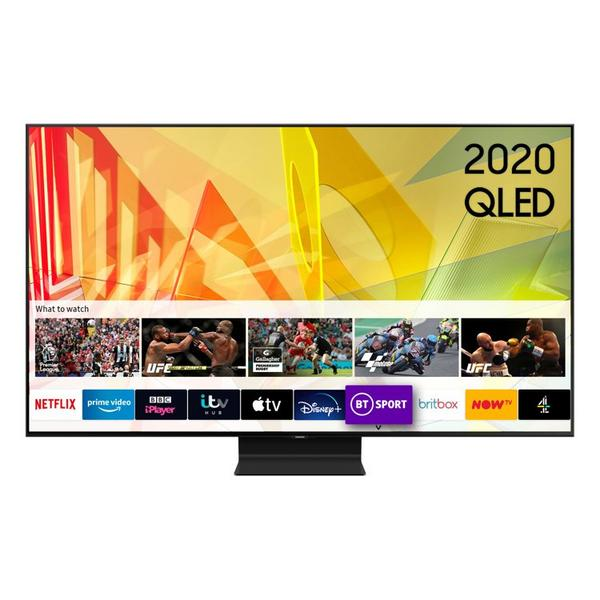 "Samsung QE55Q90TATXXU 55"" 4K HDR10 QLED Smart TV with Object Tracking Sound & Anti-Reflection Screen"