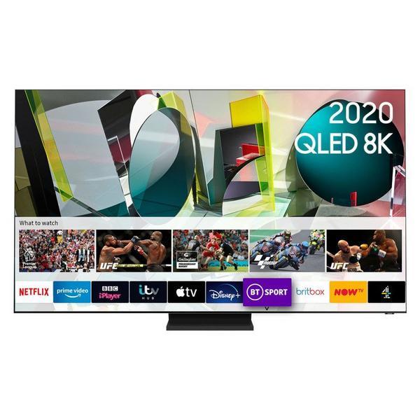 "Samsung QE75Q900TSTXXU 75"" 8K HDR10 QLED Smart TV with Anti-Reflection & Infinity Screen"