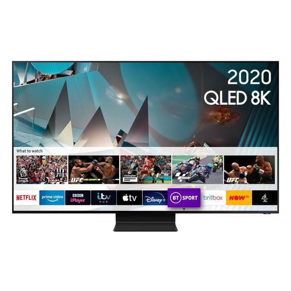 "Samsung QE82Q800TATXXU 82"" 8K HDR10 QLED Smart TV with AI Optimisation & Anti-Reflection Screen"