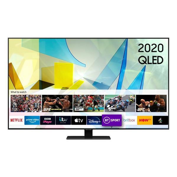 "Samsung QE85Q80TATXXU 85"" 4K HDR10 QLED Smart TV with Direct Full Array & Boundless Design"