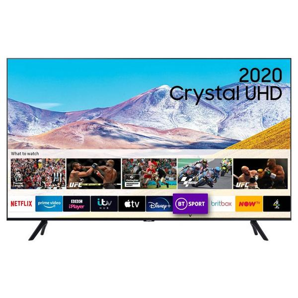 "Samsung UE43TU8000KXXU 43"" 4K Ultra HD Smart TV with Crystal Display & Boundless Design"