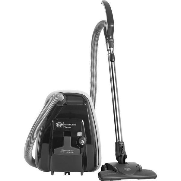 Sebo 92662GB Airbelt K1 Pro ePower Bagged Cylinder Vacuum Cleaner - Dark Grey