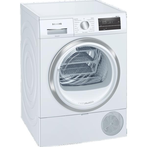 Siemens extraKlasse WT47RT90GB iQ500 9kg Heat Pump Tumble Dryer - White