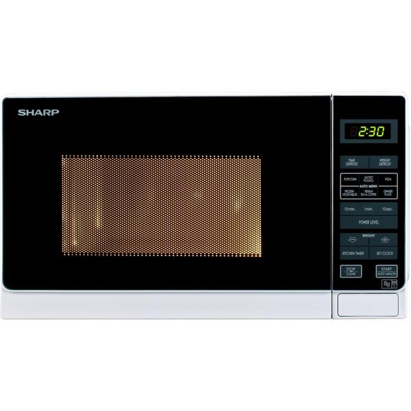 Sharp R272WM 20 Litre Solo Microwave - White