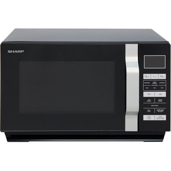 Sharp R360KM 23 Litre Solo Microwave - Black