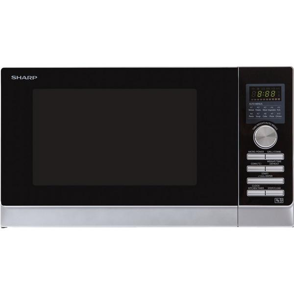 Sharp R843SLM 25 Litre Combination Microwave - Silver