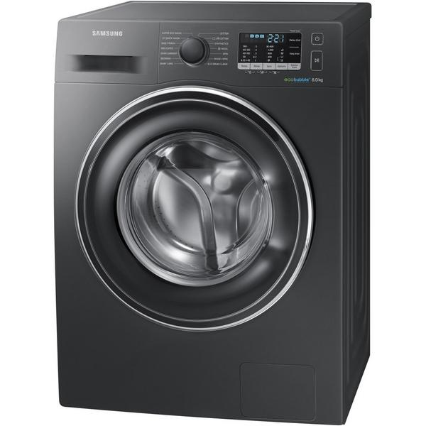Samsung WW80J5555EX 8kg 1400 Spin Washing Machine - Graphite - A+++ Rated