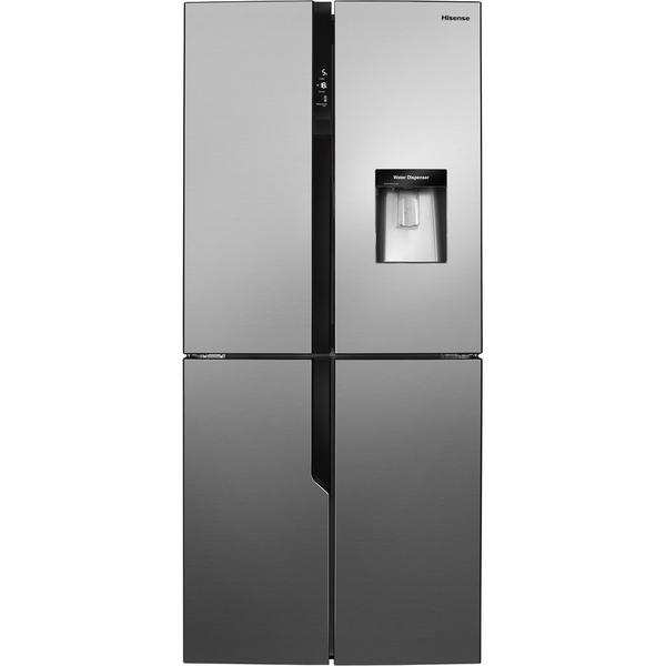 Hisense RQ560N4WC1 American Style Fridge Freezer - Stainless Steel Effect