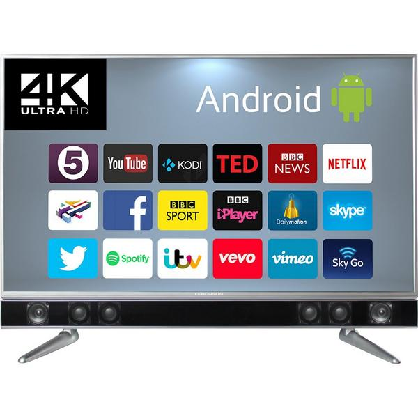 "Ferguson FP50ANSMT 50"" LED 1080P Platinum Android TV - Freeview HD - WiFi - 2x10w Built In Soundbar"
