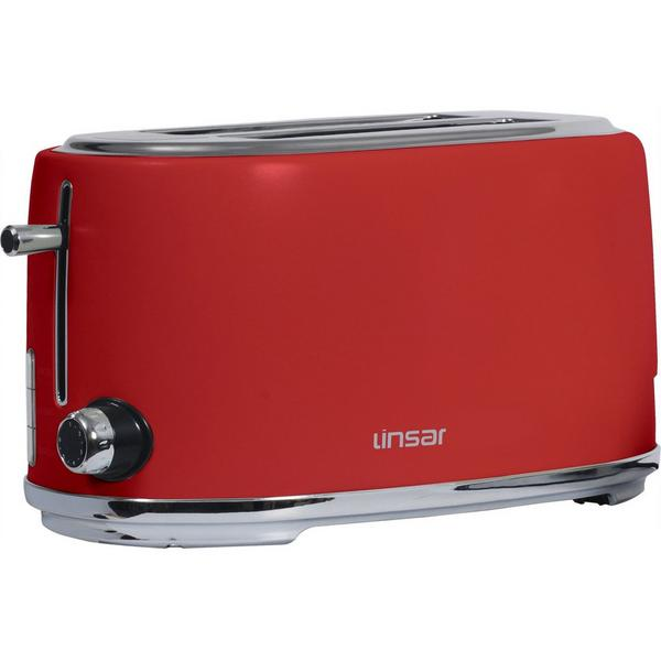 Linsar KY832RED 4 Slice Toaster - Red