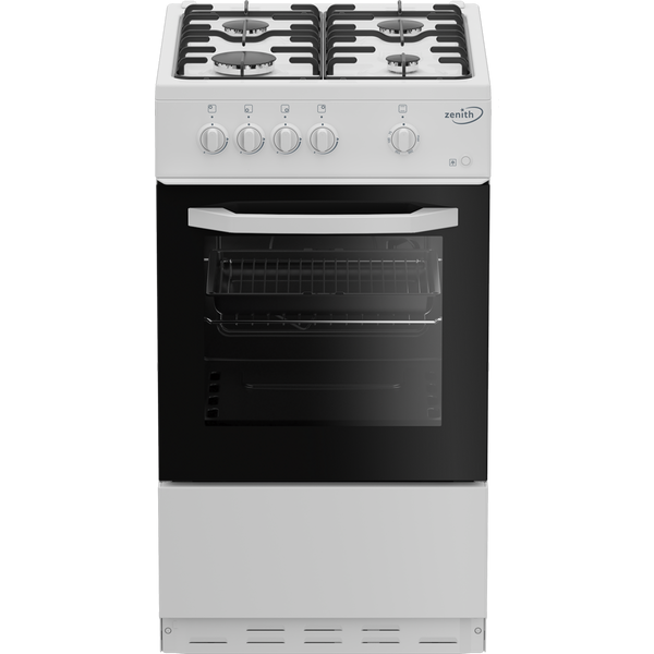 Zenith ZE501W 50cm Gas Single Oven with Gas Hob - White