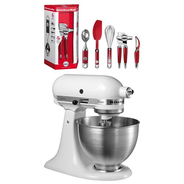 Kitchenaid 5K45SSBWH_KIT Stand Mixer with 4.3 Litre Bowl - White