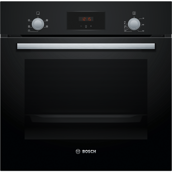 Bosch HHF113BA0B 59.4cm Built In Electric Single Oven With 3D Hot Air - Black