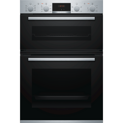 Bosch MBS533BS0B 59.4cm Built In Electric Double Oven with 3D Hot Air - Stainless Steel