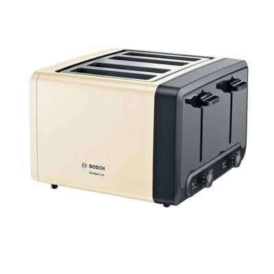 Bosch TAT4P447GB 4 Slot Toaster - Cream