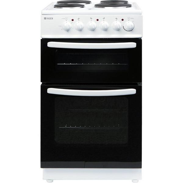 Haden HEST50W 50cm Twin Cavity Electric Cooker - White