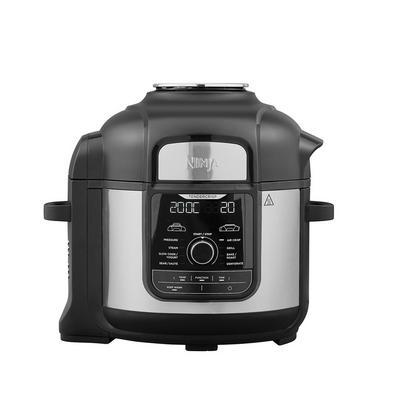 Ninja Foodi OP500UK 7.5L 9-in-1 Multi Pressure Cooker and Air Fryer - Black/Stainless Steel