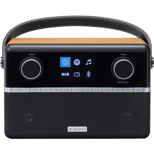 Roberts STREAM94I DAB Portable Internet Radio - Black/Wood Veneer