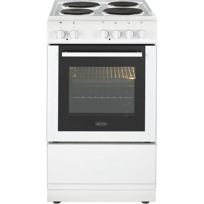 Belling FS50ESWHI 50cm Electric Single Oven with Solid Plate Hob - White - A Rated