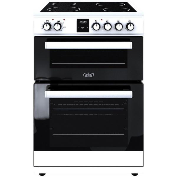 Belling FSE608DPC 60cm Electric Double Oven with Ceramic Hob - White - A/A Rated