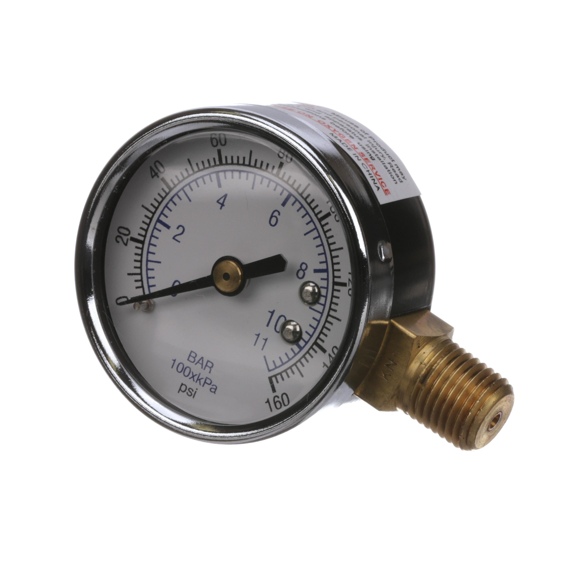 MANITOWOC GAUGE RIGHT HAND 0 TO 160 PSI