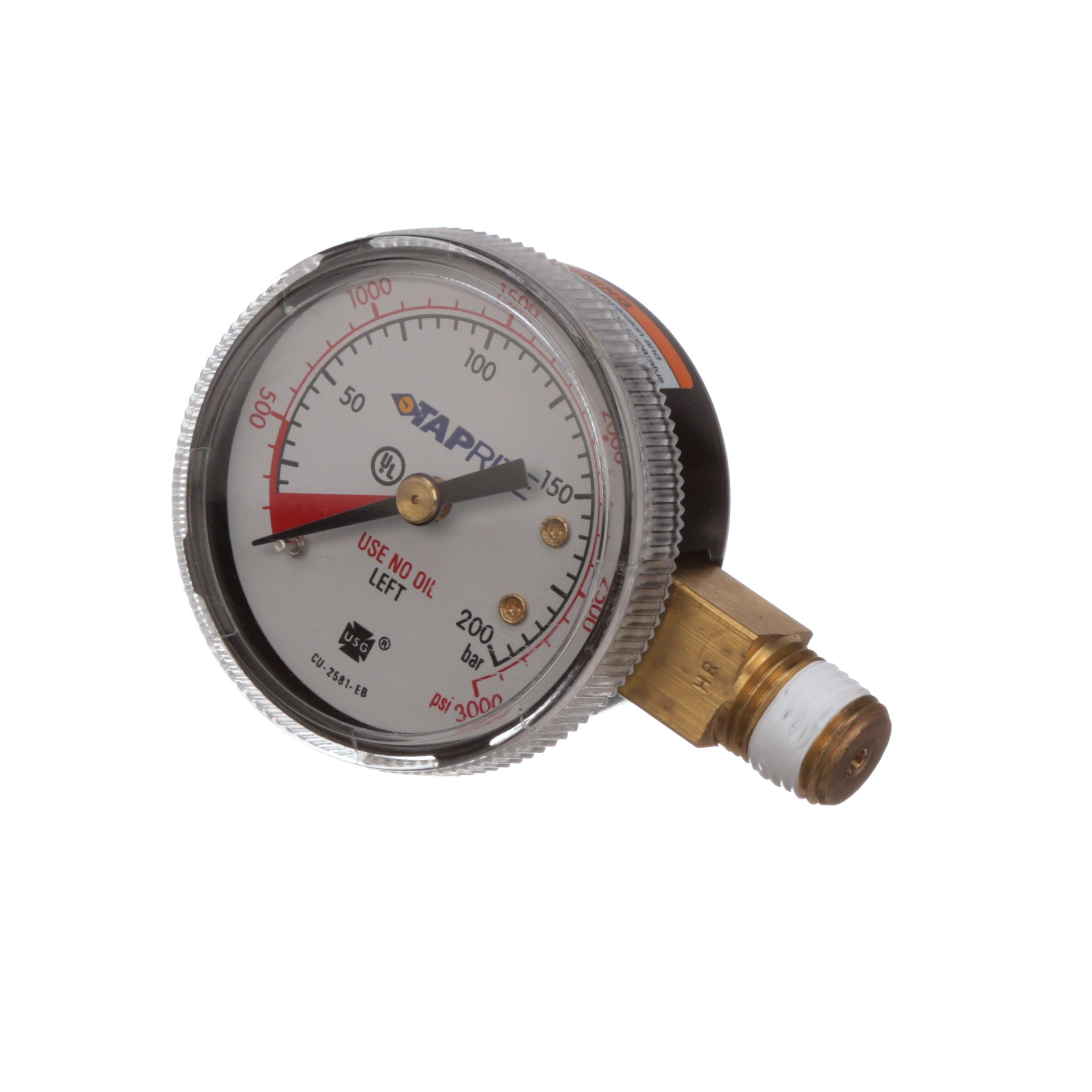 MANITOWOC GAUGE LEFT HAND 0 TO 3000 PSI