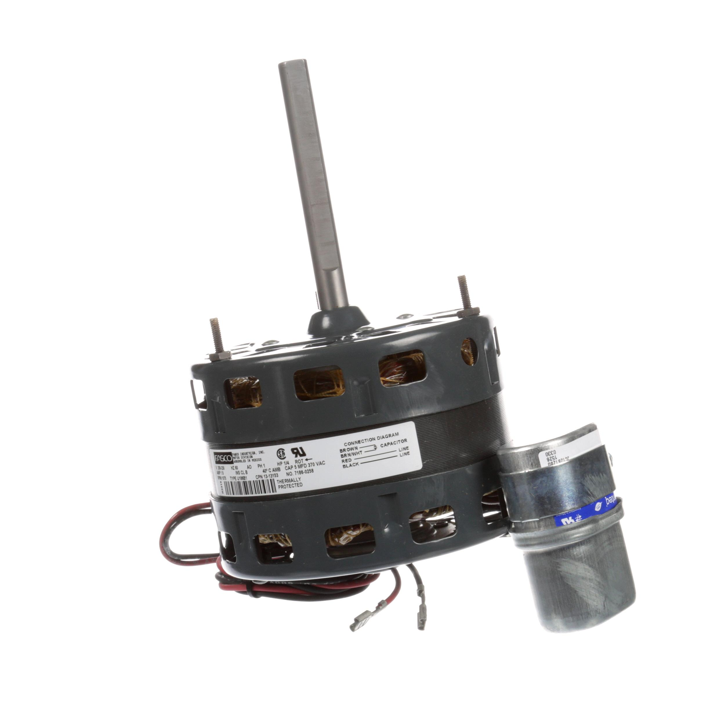 Master Bilt Condenser Fan Motor 7186 0258 1 4hp 230 60 1075rpm Psc Wiring Diagram Repalcement Parts And