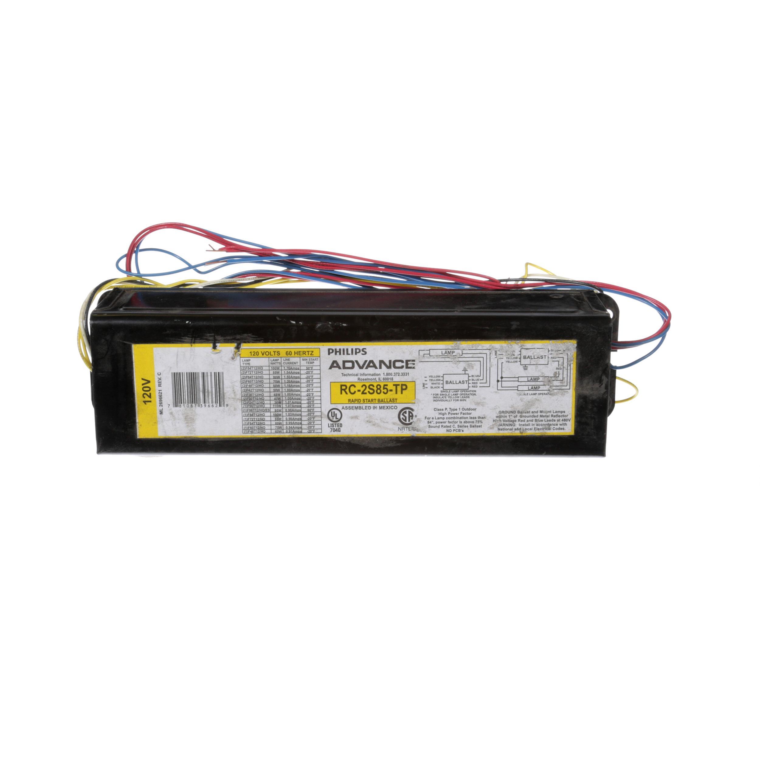 MASTER-BILT BALLAST, 2 LAMP, 800 MA  490-XLH-TC-P, MAGNETEK (UL, CSA)