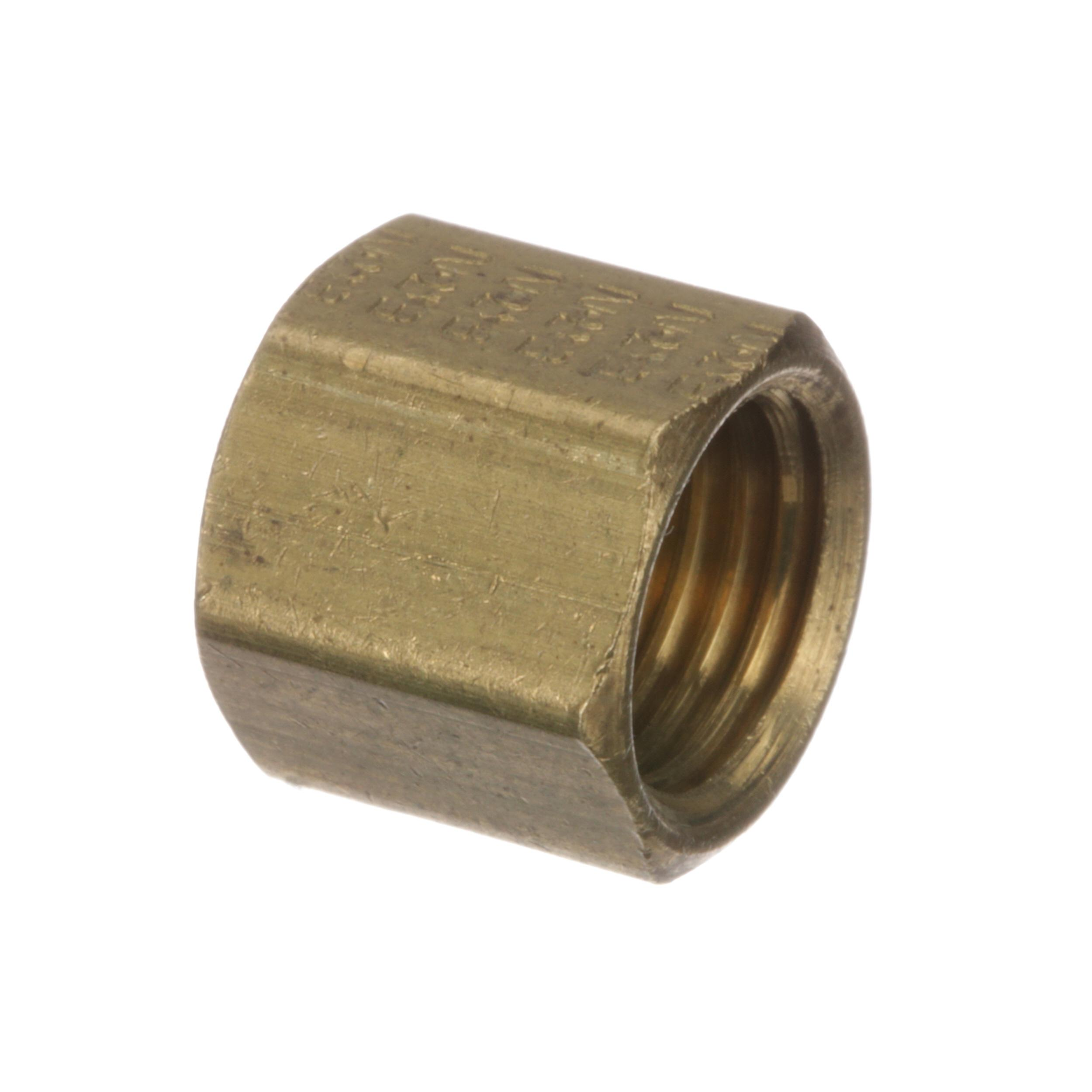 WYOTT NUT, 3/8-24 COMPRESSION, BRASS