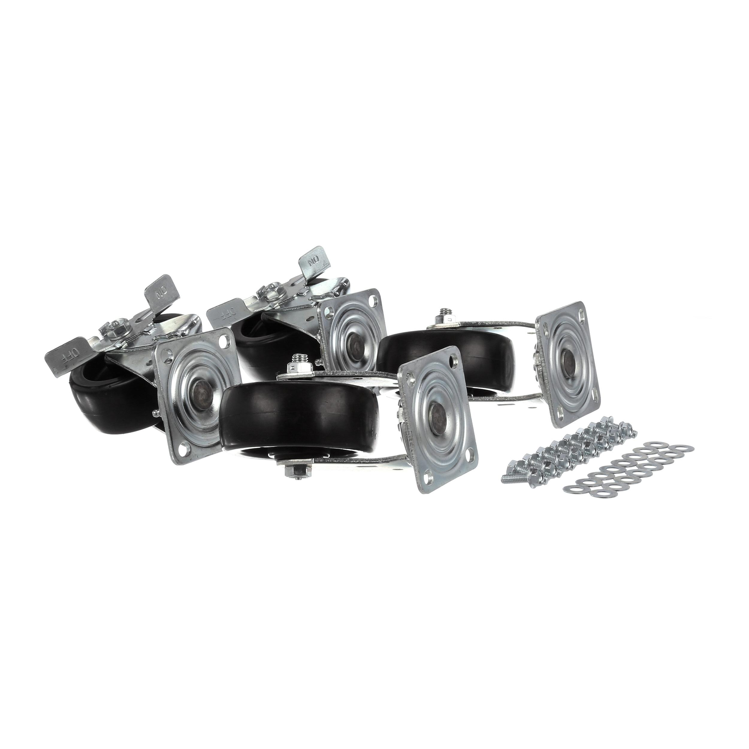 BEVERAGE-AIR PLATE CASTER KIT W/  5 IN WHEEL